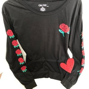 On Fire Tops - ON FIRE🔥 long sleeve crew neck top 🌹